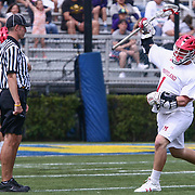 University of Maryland Attackman MATT RAMBO (1) celebrates a goal in action during the second half of a 2017 NCAA Division I Men's Lacrosse Quarterfinals game between #1 Maryland and #8 Albany Sunday, May. 21, 2017 at Delaware Stadium in Newark, Delaware.