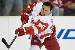 Jiri Hudler (Detroit Red Wings, #26) during ice-hockey match between Los Angeles Kings and Detroit Red Wings in NHL league, February 28, 2011 at Staples Center, Los Angeles, USA. (Photo By Matic Klansek Velej / Sportida.com)