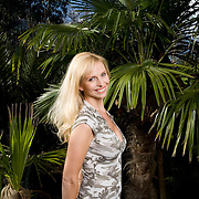TV presenter and animal expert Anneka Tanaka-Svenska at home in London