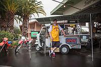 Barista William Sheehan at the Cafe Scooteria, Sonoma, California
