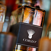 SHOT 10/22/09 2:48:33 PM - Billy's Inn is a neighborhood bar in Denver, Co. serving lunch and dinner daily with surprisingly good food like big burgers, fresh fish tacos, creative salads, tasty sandwiches, great margaritas and an extensive tequila selection. Corzo tequila at the bar at Billy's Inn. (Photo by Marc Piscotty / © 2009)