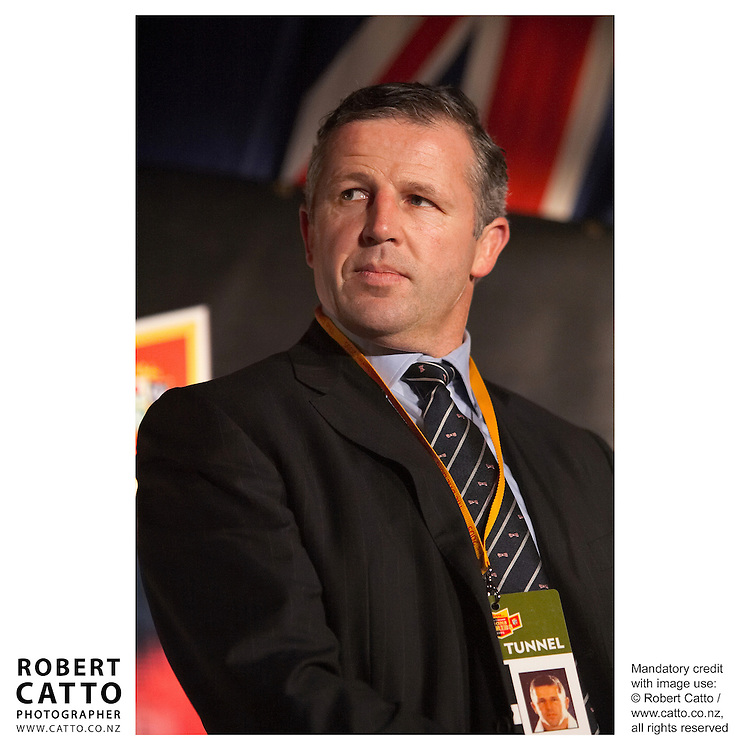 Sean Fitzpatrick at the British &amp; Irish Lions v. All Blacks Third Test at Eden Park, Auckland, New Zealand.<br />
