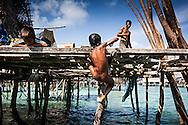 Bajau children on Omadal Island
