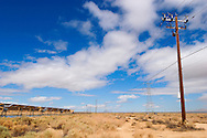 Solar Panels and Electric Towers, Mojave Desert, California