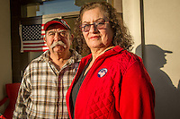 """""""We have voted in Calistoga for the past 24 years.""""  -Augustin and Angelina Vega outside the polling place in downtown Calistoga"""