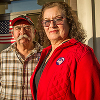 """We have voted in Calistoga for the past 24 years.""  -Augustin and Angelina Vega outside the polling place in downtown Calistoga"