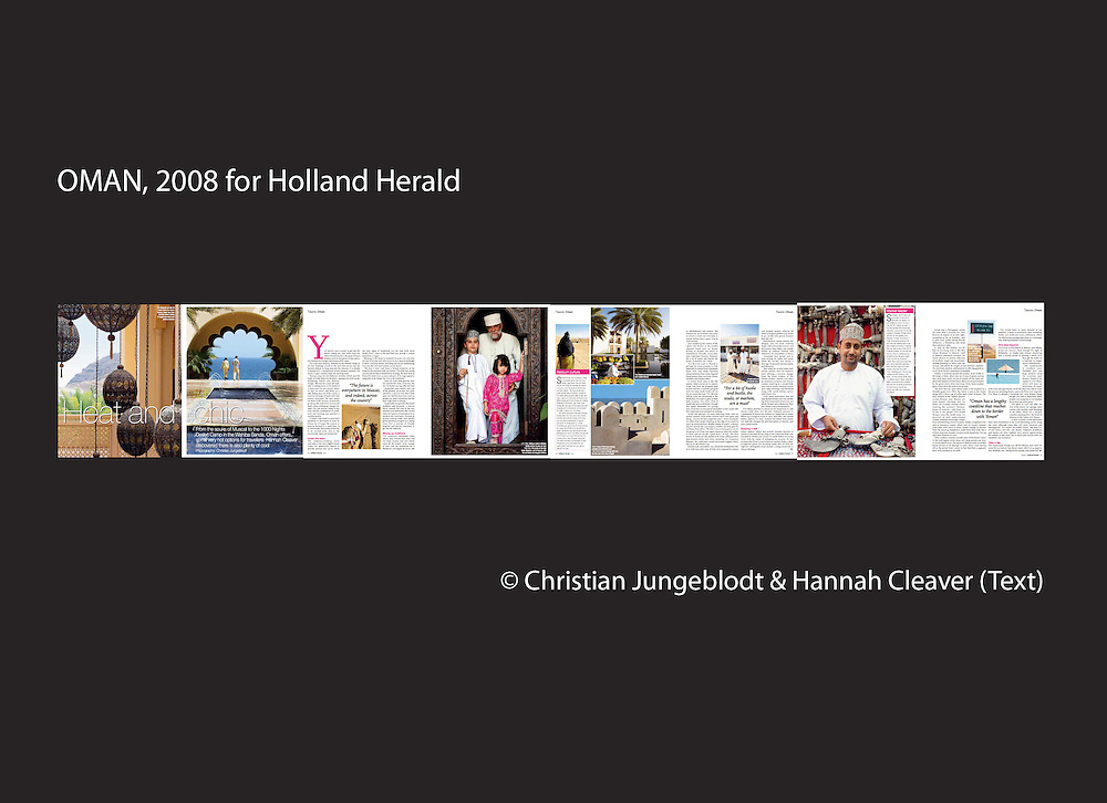 OMAN 2008 for HOLLAND HERALD, KLM Inflight Magazine.Photos by Christian Jungeblodt & Text by Hannah Cleaver.+49-172-4333117