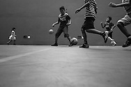 Sao Paulo, Brasil - January 31 of 2015:Marco plays football with some friends. photo: Caio Guatelli