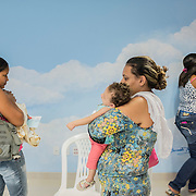 A group of mothers during a class at the rehabilitation center FAV (Fundação Atilio Valente) in Recife, Pernambuco