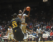 """Ole Miss forward Terrance Henry (1) shoots at C.M. """"Tad"""" Smith Coliseum in Oxford, Miss. on Saturday, December 4, 2010."""