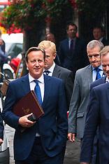 2014-09-01 David Cameron walks to Parliament to deliver anti-terror address