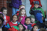 Bramlett Elementary students sing Christmas carols outside of City Hall, in Oxford, Miss. on Tuesday, December 10, 2013.