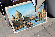 Street art sellers in Venice, Italy