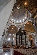 St. Peter's baldachin, Vatican City, Rome, Italy