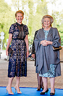 DELFT 19-4-2017 - Princess Beatrix and Princess Mabel is Wednesday, April 19th, 2017 at the presentation of the third Prince Friso Engineering Prize. The presentation will take place at TU Delft which this year celebrates its 175th anniversary. The finalists are: Dr Martin Baptist, senior scientist at Wageningen Marine Research; Dr Rolf Hut, researcher and lecturer at the TU Delft and Dr Rick Scholte, founder and managing director at Sorama B.V. COPYRIGHT ROBIN UTRECHT<br /> <br /> DELFT 19-4-2017 - Prinses Beatrix en Prinses Mabel zijn woensdag 19 april 2017 aanwezig bij de uitreiking van de derde Prins Friso Ingenieursprijs. De uitreiking vindt plaats op de TU Delft die dit jaar haar 175-jarig jubileum viert. De finalisten zijn: dr.ir. Martin Baptist, senior scientist bij Wageningen Marine Research; dr.ir. Rolf Hut, onderzoeker en docent aan de TU Delft en dr.ir. Rick Scholte, founder en managing director bij Sorama B.V. COPYRIGHT ROBIN UTRECHT