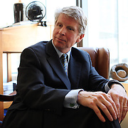 Manhattan District Attorney Cyrus Vance, Jr. in his former office at Morvillo, Abramowitz, Grand, Isaon, Anello & Bohrer, P.C. shortly before being elected.