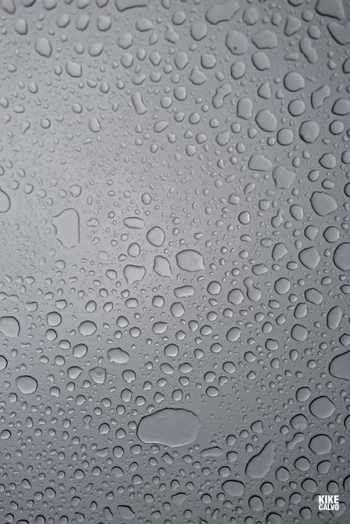 Rain drops seen on a window car from inside the vehicle.   May 29, 2014. (Kike Calvo via AP Images)