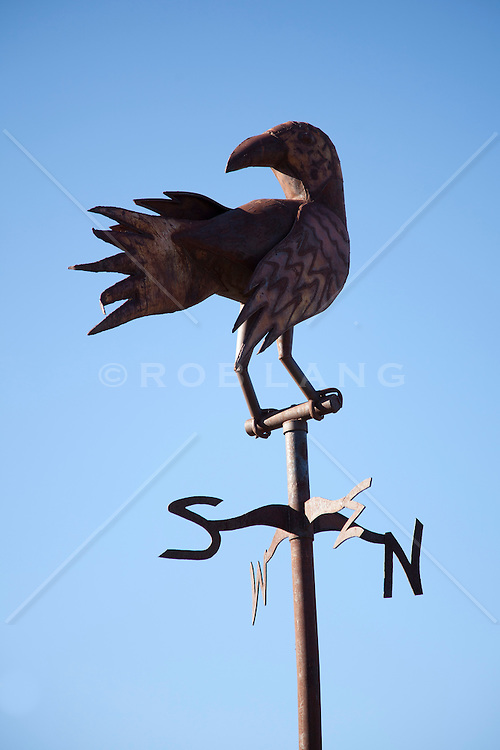 weathervane with a bird