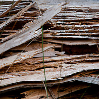 Golzern, Switzerland - splintered wood texture on a building.