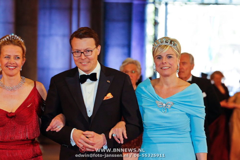 NLD/Amsterdam/20130429- Afscheidsdiner Konining Beatrix Rijksmuseum, Princess Mabel, prince Constantijn and husband princess Laurentien