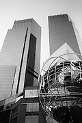 The Time Warner Building at Columbus Circle and the Globe, New York City