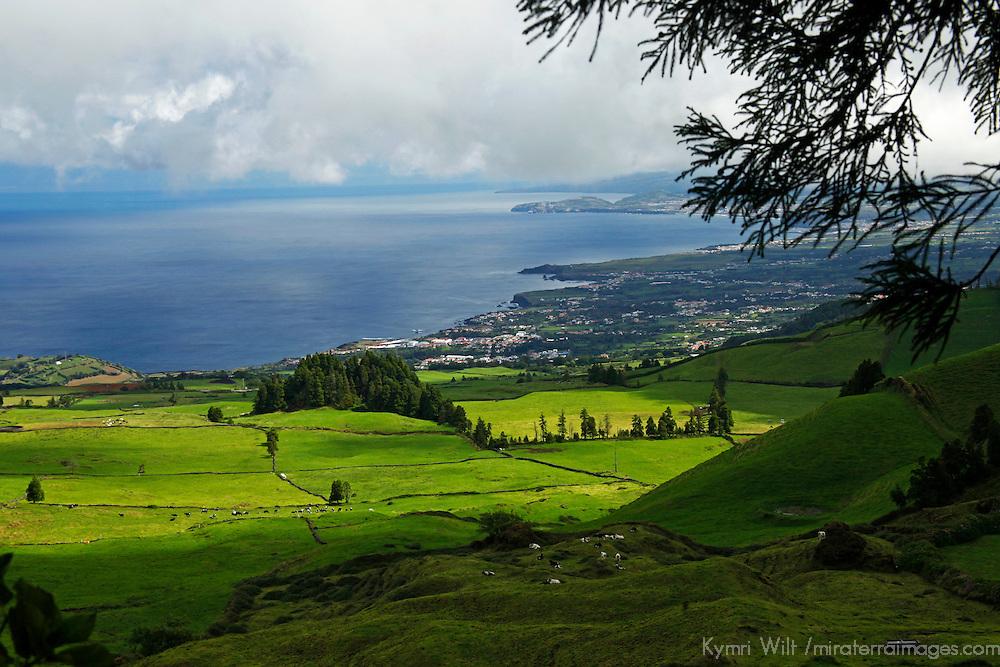 Europe, Portugal, Azores. Ponta Delgada landscape and coast.