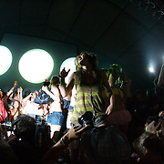 MANCHESTER, TN - JUNE 12:  Girl Talk (Gregg Michael Gillis) performs at the 2009 Bonnaroo Music and Arts Festival on June 12, 2009 in Manchester, Tennessee. Photo by Bryan Rinnert/3Sight Photography