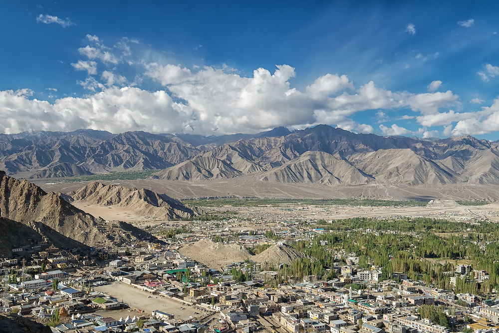 Aeriel View of Leh City, Ladakh