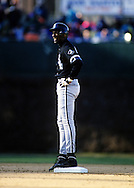 WRIGELY FIELD, CHICAGO, IL:  NBA Hall of Famer Michael Jordan, as a member of the Chicago White Sox,  played in an exhibition game versus the Chicago Cubs at Wrigley Field in Chicago, IL.