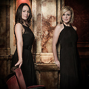 Portrait of singing duo, Bel Canto.