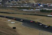 Alex Barron and Patrick Carpentier at Infineon Raceway, Argent Mortgage Indy Grand Prix, August 28, 2005
