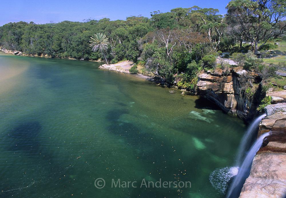 Waterfall at Wattamolla, Royal National Park, Australia.