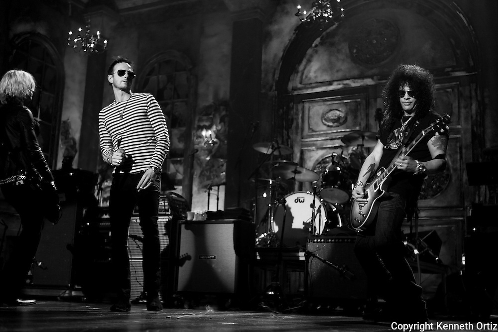 Scott Weiland, Slash & Velvet Revolver doing a sound check at the 2007 Rock n Roll Hall of Fame induction ceremony in New York City at The Waldorf Astoria Hotel.