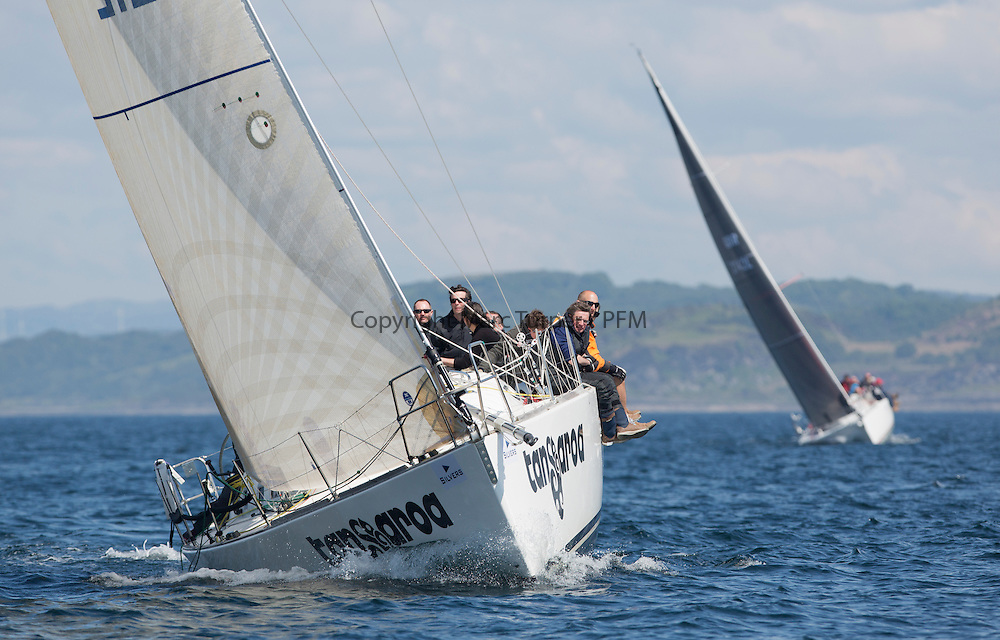 Final days' racing at the Silvers Marine Scottish Series 2016, the largest sailing event in Scotland organised by the  Clyde Cruising Club<br /> <br /> Racing on Loch Fyne from 27th-30th May 2016<br /> <br /> GBR1121L, Tangaroa, Eliz &amp; Des Balmforth, CCC, Pronavia 38<br /> <br /> Credit : Marc Turner / CCC<br /> For further information contact<br /> Iain Hurrel<br /> Mobile : 07766 116451<br /> Email : info@marine.blast.com<br /> <br /> For a full list of Silvers Marine Scottish Series sponsors visit http://www.clyde.org/scottish-series/sponsors/