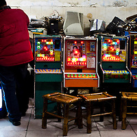 Electronic games in a shop in Chengdu