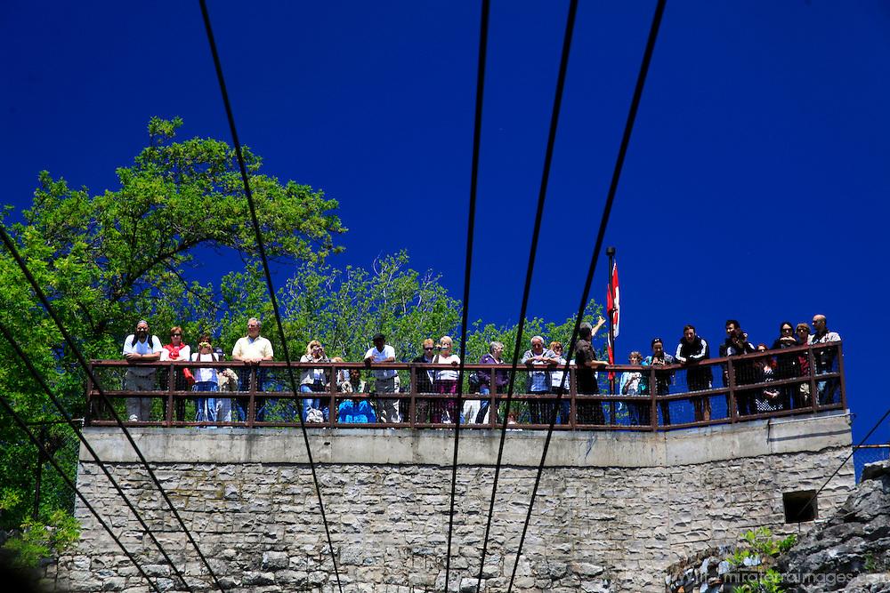 North America, Canada, Ontario. Niagara Falls Aero Car attraction.