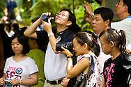vistors to the Semenggoh Wildlife Center