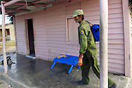 House porch in La Bajada, Pinar del Rio, Cuba.