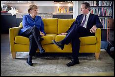 FEB 27 2014 David Cameron and Angela Merkel