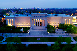 Aerial view of the Nelson Atkins Museum of Art in Kansas City, Missouri