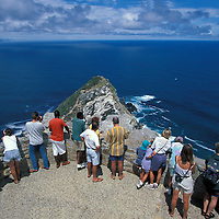 South Africa, Cape of Good Hope Reserve, Tourists at Cape Hope