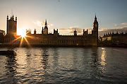 Houses of Parliament, seen from the South Bank, London