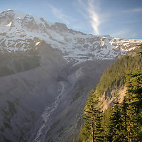 Southern slope of Rainier and Nisqually Glacier - Mount Rainier National Park, WA