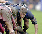 31/01/2004 Parker Pen Challenge Trophy.Bath Rugby v Beziers.Andy Beattie, packs down....   [Mandatory Credit, Peter Spurier/ Intersport Images].