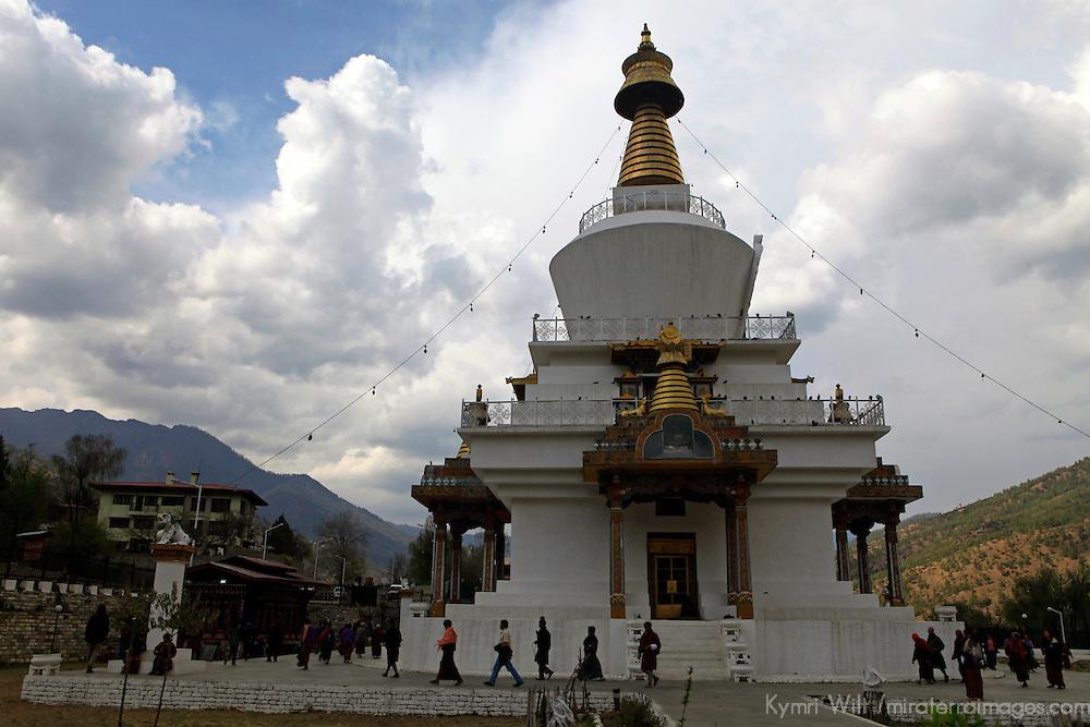 Asia, Bhutan, Thimpu. The Memorial Chorten in Thimpu.