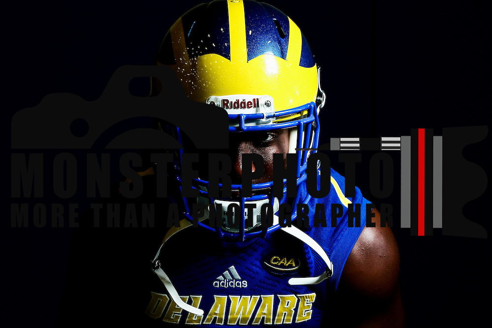 Photo of Delaware Cornerback Malcolm Brown (1) taken Sunday, August 14, 2016, at Delaware Field House Facility on the campus of the university of Delaware in Newark.