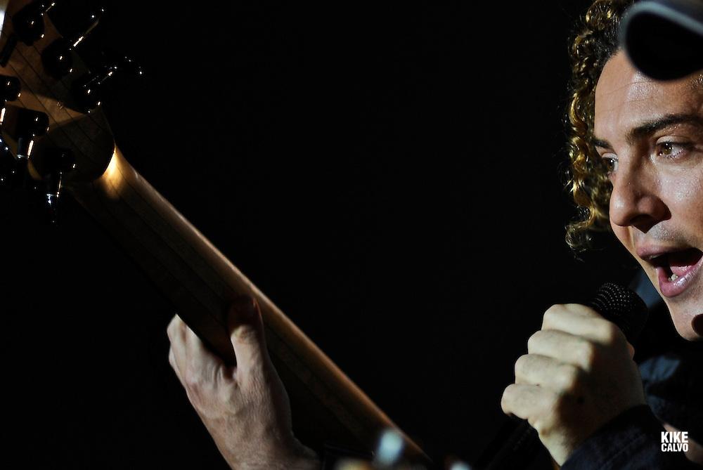 Latin Grammy-winning Spanish pop singer David Bisbal performs at the Figali Convention Center in Panama City (Panama) , part of  his Latin American tour.