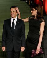DEU,DEUTSCHLAND ,Baden Baden ,03.04.09 .Treffen der Staats- und Regierungschefs anlaesslich des Nato Gipfels in Baden Baden. Staatspraesident FRankreich Nicolas Sarkozy und Carla Bruni