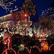 9604 and 9606 Asbury Court in Richmond, VA is part of the Tacky Light Tour December 24, 2011, in Richmond, VA. Rosalene Phifer and her son (and neighbor) Bobby Phifer have over a million lights and have been decorating the yards since 1974...Photo by Khue Bui