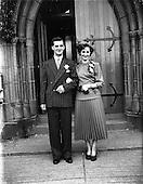1952 Wedding of Mr. D. McKeon and Miss Peggy Egan